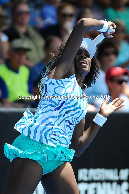 Venus Williams from the USA on Day 3 of the ASB Classic Women's International. ASB Tennis Centre, Auckland, New Zealand. Wednesday 7 January 2015. Copyright photo: Chris Symes/www.photosport.co.nz