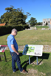 Baconsthorpe Castle, English Heritage property, ruined fortified manor house, Norfolk UK Sep 2019