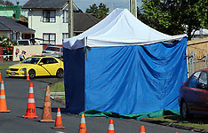Auckland-Police investigate Fisher Cresent homicide, Otara
