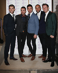 THE OVERTONES attends the James' Jog-on to Cancer charity fundraiser, Kensington Roof Gardens, April 3, 2013 in London, England. Photo by: i-Images..