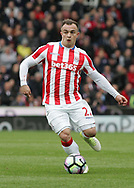 Xherdan Shaqiri of Stoke City in action against West Ham United during the Premier League match at the Bet 365 Stadium, Stoke-on-Trent.<br /> Picture by Michael Sedgwick/Focus Images Ltd +44 7900 363072<br /> 29/04/2017