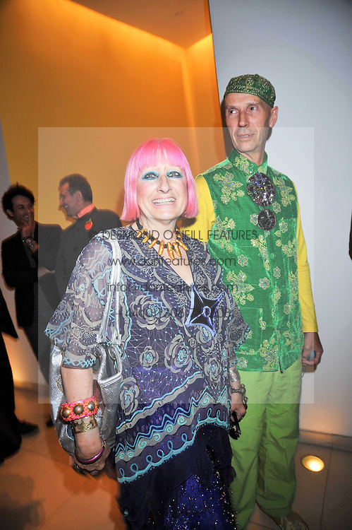 ZANDRA RHODES and ANDREW LOGAN at the St.Martins Lane Hotel 10th year bash held on 9th September 2009.