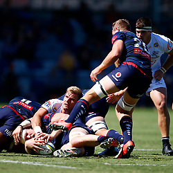 Tyler Paul of the Cell C Sharks during the super rugby match between the Melbourne Rebels and the Cell C Sharks at the  Mars Stadium,Ballarat,Western suburbs of Melbourne,Victoria, Australia, 22,020,2020 (Photo Steve Haag /HollywoodBets)
