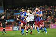 Ian Henderson, Scott Wiseman during the Sky Bet League 1 match between Scunthorpe United and Rochdale at Glanford Park, Scunthorpe, England on 28 December 2015. Photo by Daniel Youngs.