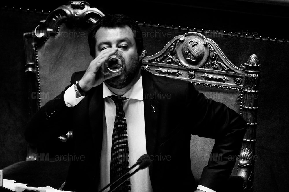 Matteo Salvini in the Italian Senate. Rome 13 June 2018. Christian Mantuano / OneShot