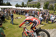 Dougie Lampkin riding motorbike, The Cartier Style et Luxe Concours lunch at the Goodwood Festival of Speed. July 13, 2008  *** Local Caption *** -DO NOT ARCHIVE-© Copyright Photograph by Dafydd Jones. 248 Clapham Rd. London SW9 0PZ. Tel 0207 820 0771. www.dafjones.com.