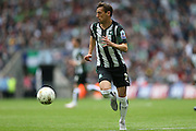 Plymouth Argyle's Gary Sawyer during the Sky Bet League 2 play off final match between AFC Wimbledon and Plymouth Argyle at Wembley Stadium, London, England on 30 May 2016.