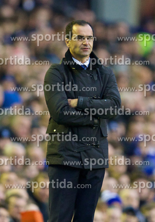 04.01.2014, Goodison Park, Liverpool, ENG, FA Cup, FC Everton vs Queens Park Rangers, 3. Runde, im Bild Everton's manager Roberto Martinez // during the English FA Cup 3rd round match between Everton FC and Queens Park Rangers at the Goodison Park in Liverpool, Great Britain on 2014/01/04. EXPA Pictures &copy; 2014, PhotoCredit: EXPA/ Propagandaphoto/ David Rawcliffe<br /> <br /> *****ATTENTION - OUT of ENG, GBR*****