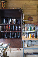 Traditional shoemaker workshop