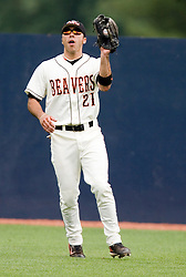 Oregon State Beavers OF Scott Santschi (21).  The Oregon State Beavers defeated the Rutgers Scarlet Knights 5-2 in Game 5 of the NCAA World Series Charlottesville Regional held at Davenport Field in Charlottesville, VA on June 4, 2007.