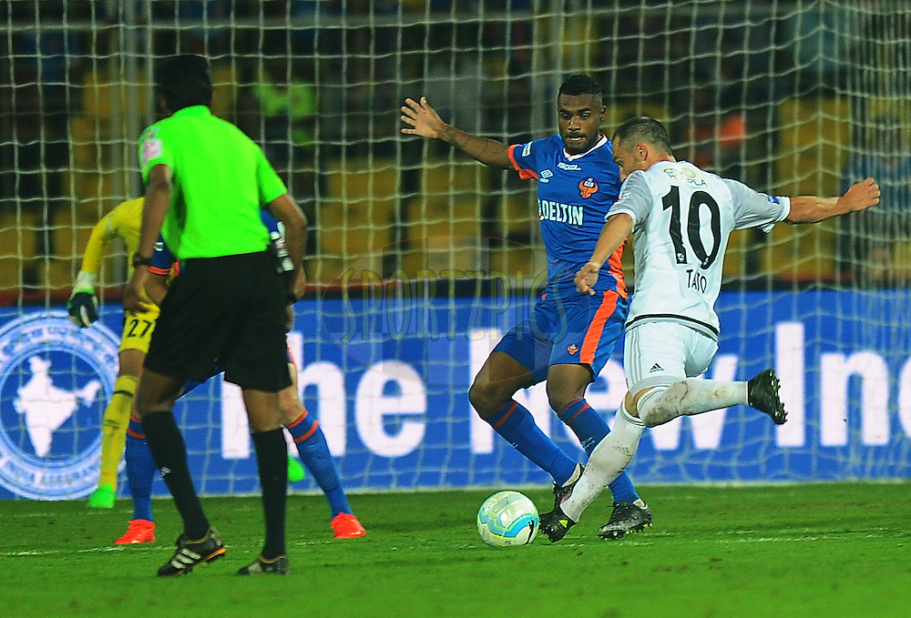 Jesus Rodriguez Tato of FC Pune City  during match 8 of the Indian Super League (ISL) season 3 between FC Goa and FC Pune City held at the Fatorda Stadium in Goa, India on the 8th October 2016.<br /> <br /> Photo by Faheem Hussain / ISL/ SPORTZPICS