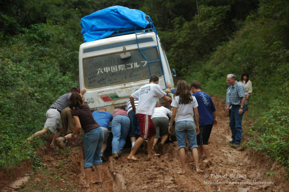 Stuck in the mud, Buena Vista, Bolivia