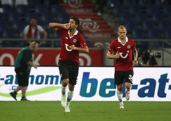 FootballL: Europa League, Qualification, Hannover 96 - St. Patricks Athletic, Hannover, 09.08.2012..Karim Haggui (Hannover) celebrates scoring first goal..© pixathlon