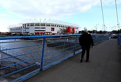 Fans arrive at The Riverside Stadium for the Premier League Fixture with Middlesbrough v Sunderland - Mandatory by-line: Robbie Stephenson/JMP - 26/04/2017 - FOOTBALL - Riverside Stadium - Middlesbrough, England - Middlesbrough v Sunderland - Premier League