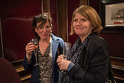 NINA STIBBE; CATHY RENTZENBRINK, David Campbell Publisher of Everyman's Library and Champagen Bollinger celebrate the completion of the Everyman Wodehouse in 99 volumes and the 2015 Bollinger Everyman Wodehouse prize shortlist. The Archive Room, The Goring Hotel. London. 20 April 2015.