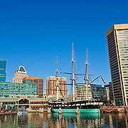 USS Constellation, a Civil War-era ship on display at Baltimore's Inner Harbor