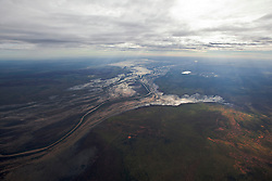 Early morning light illuminates the extent of the Fitzroy River floodplain near Liveringa.