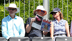 Spectators in the stands during day one of the Aspall Classic at the Hurlingham Club, London.