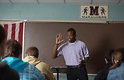 Student teacher Philip Davis leads a class at Meigs High School. Photo by Ben Siegel