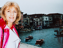 Toni on holiday in Venice  in the 1990s. Eighty-year-old great grandmother Toni Goldenberg save up her pennies to pay for a facelift in February 2019, giving her extra confidence and a look to match her youthful approach to life. Wallington, Surrey, March 28 2019.