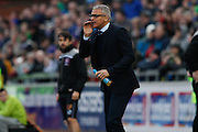 Carlisle Manager Keith Curle shots orders during the Sky Bet League 2 match between Carlisle United and York City at Brunton Park, Carlisle, England on 23 January 2016. Photo by Craig McAllister.