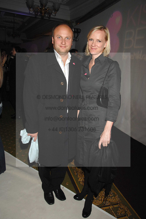 Actress HERMONIE NORRIS and her husband SIMON WHEELER at a reception to launch the Kiss It Better Appeal in aid of the Great Ormond Street Hosoital supported by Clinique - held at Harrods, Knightsbridge, London on 30th January 2008.<br /> <br /> NON EXCLUSIVE - WORLD RIGHTS (EMBARGOED FOR PUBLICATION IN UK MAGAZINES UNTIL 1 MONTH AFTER CREATE DATE AND TIME) www.donfeatures.com  +44 (0) 7092 235465