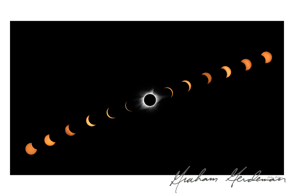 Composite Image of the Aug. 21 2017 Solar Eclipse taken from outside Nashville, TN. <br />