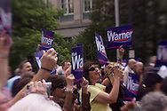 Democratic U.S. Senate Candidate Mark Warner kicked started his campaign this week stopping in Lynchburg, VA Tuesday May 6th, 2008. Supporters gathered on Church Street in front of Monument Terrace located in downtown Lynchburg around noon to hear him speak.Democratic U.S. Senate Candidate Mark Warner kicked started his campaign this week stopping in Lynchburg, VA Tuesday May 6th, 2008. Supporters gathered on Church Street in front of Monument Terrace located in downtown Lynchburg around noon to hear him speak.