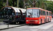 Curitiba_PR, Brasil...Sistema de transporte publico curitibano, denominado Rede Integrada de Transportes (RIT), Parana...Public transit system of Curitiba, Integrated Transport Network, Parana...Foto: BRUNO MAGALHAES / NITRO