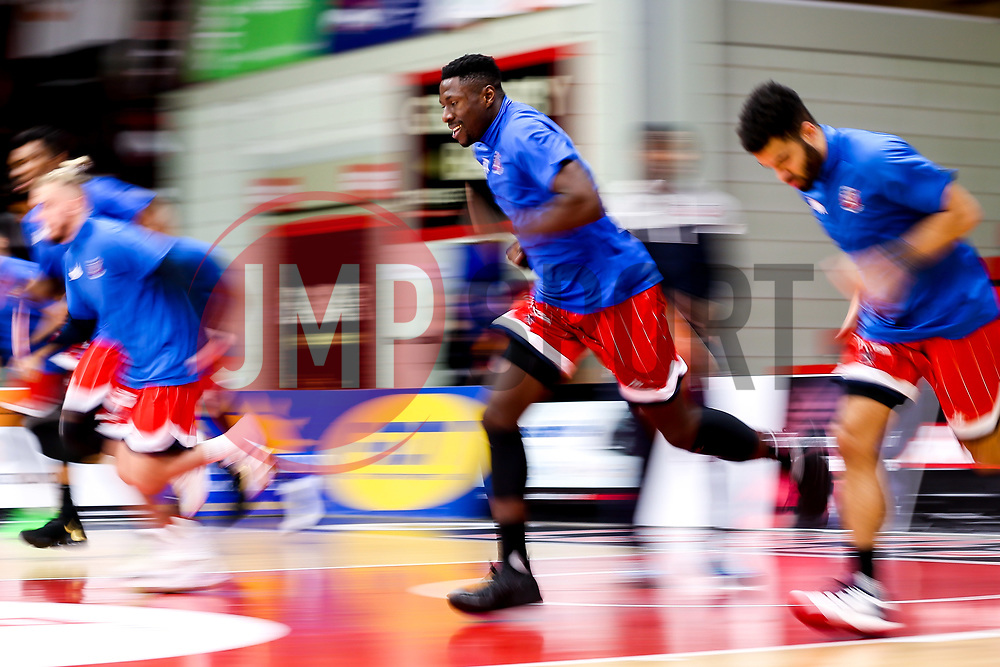 Bristol Flyers warm up - Photo mandatory by-line: Robbie Stephenson/JMP - 11/01/2019 - BASKETBALL - Leicester Sports Arena - Leicester, England - Leicester Riders v Bristol Flyers - British Basketball League Championship