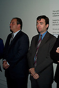 GREEK Prime Minister Dr. Kostas Karamanlis; Andy Burnham; , Byzantium 330-1453. Royal academy. Piccadilly. London. 21 October 2008 *** Local Caption *** -DO NOT ARCHIVE-© Copyright Photograph by Dafydd Jones. 248 Clapham Rd. London SW9 0PZ. Tel 0207 820 0771. www.dafjones.com.