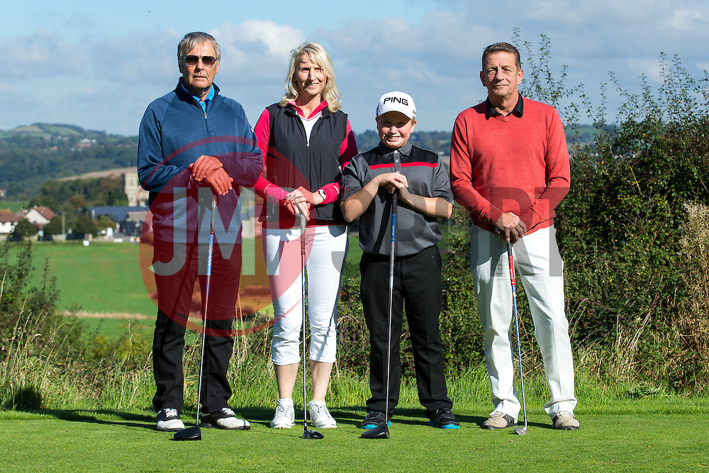 Bristol Rovers reprasentative Rod Wesson joins team Red Bus as they take part in the annual Bristol Rovers Golf Day - Rogan Thomson/JMP - 10/10/2016 - GOLF - Farrington Park - Bristol, England - Bristol Rovers Golf Day.