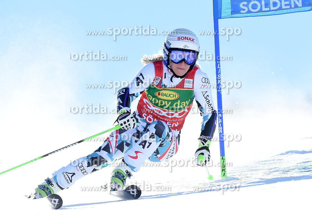 22.10.2016, Rettenbachferner, Soelden, AUT, FIS Weltcup Ski Alpin, Soelden, Riesenslalom, Damen, 1. Durchgang, im Bild Eva-Maria Brem of Austria // in action during 1st run of ladies Giant Slalom of the FIS Ski Alpine Worldcup opening at the Rettenbachferner in Soelden, Austria on 2016/10/22. EXPA Pictures © 2016, PhotoCredit: EXPA/ Erich Spiess
