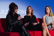 Tish Ciravolo, President and Founder, Daisy Rock Girl Guitars, Katherine Twells, AVP of Customer Marketing for Wetern US, Coca-Cola, and Halle Stanford, EVP of Children's Entertainment, Jim Henson Company