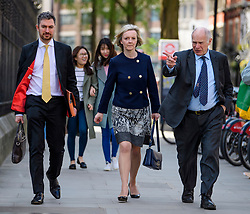 © Licensed to London News Pictures. 03/04/2017. London, UK. Secretary of State for Justice, Lord Chancellor LIZ TRUSS seen arriving at the Royal Courts of Justice.  Photo credit: Ben Cawthra/LNP