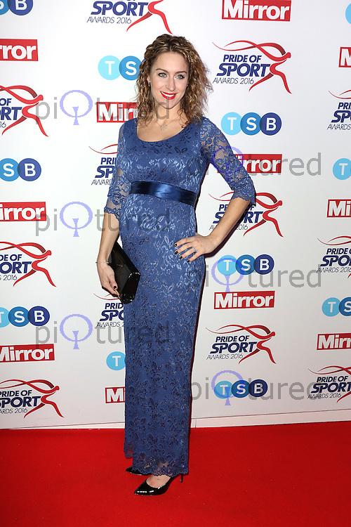 Amy Williams, Pride of Sport Awards, Grosvenor House Hotel, London UK, 07 December 2016, Photo by Richard Goldschmidt