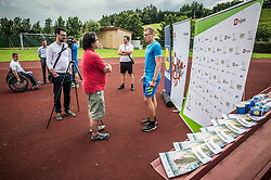 Rok Novak, coach at Media day of ZSIS-POK with Henrik Plank and Jana Führer, candidates for Paralympic Games Rio 2016, on June 20, 2016 in Sentjur, Slovenia. Photo by Vid Ponikvar / Sportida