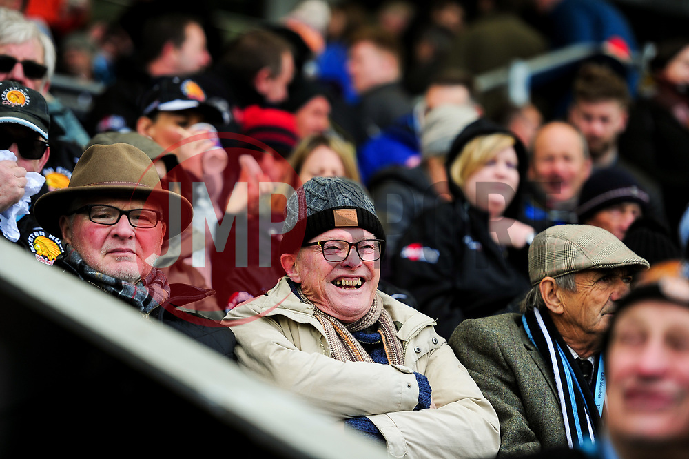 Exeter Chiefs fans prior to kick off - Mandatory by-line: Ryan Hiscott/JMP - 14/04/2019 - RUGBY - Sandy Park - Exeter, England - Exeter Chiefs v Wasps - Gallagher Premiership Rugby