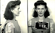 Prostitutes And Madams: Mugshots From When Montreal Was Vice Central<br /> <br /> Montreal, Canada, 1949. Le Devoir publishes a series of articles decrying lax policing and the spread of organized crime in the city. Written by campaigning lawyer Pacifique 'Pax' Plante (1907 – 1976) and journalist Gérard Filion, the polemics vow to expose and root out corrupt officials.<br /> <br /> With Jean Drapeau, Plante takes part in the Caron Inquiry, which leads to the arrest of several police officers. Caron JA's Commission of Inquiry into Public Morality began on September 11, 1950, and ended on April 2, 1953, after holding 335 meetings and hearing from 373 witnesses. Several police officers are sent to prison.<br /> <br /> During the sessions, hundreds of documents are filed as evidence, including a large amount of photos of places and people related to vice.  photos of brothels, gambling dens and mugshots of people who ran them, often in cahoots with the cops – prostitutes, madams, pimps, racketeers and gamblers.<br /> <br /> Photo shows: Madeleine Gagnon, 7 August 1942 – arrested at 1223 Bullion on February 16, 1943 in connection with an investigation related to prostitution.<br /> ©Archives de la Ville de Montréal/Exclusivepix Media