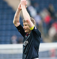 Falkirk's goalscorer Darren Dods at the end..Falkirk 1 v 0 Queen of the South, 15/10/2011..Pic © Michael Schofield.