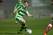 Forest Green Rovers Kieron Proctor(11) on the ball during the Gloucestershire Senior Cup match between Forest Green Rovers and U23 Bristol City at the New Lawn, Forest Green, United Kingdom on 9 April 2018. Picture by Shane Healey.