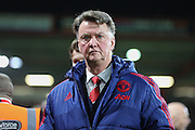 Manchester United Manager Louis van Gaal before the Barclays Premier League match between Bournemouth and Manchester United at the Goldsands Stadium, Bournemouth, England on 12 December 2015. Photo by Phil Duncan.