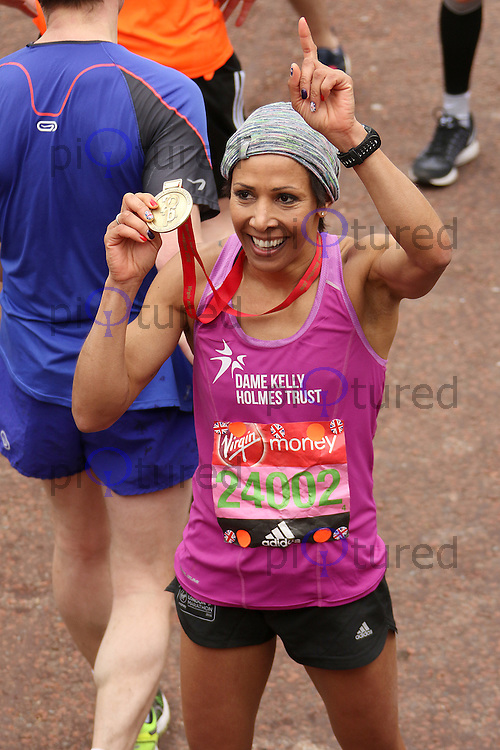Dame Kelly Holmes, Virgin Money London Marathon, London UK, 24 April 2016, Photo by Brett D. Cove