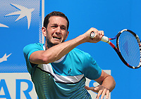 Tennis - 2017 Aegon Championships [Queen's Club Championship] - Day Two, Monday<br /> <br /> Men's Singles, Round of 32<br /> James Ward [GBR] vs. Julien Benneteau [France]<br /> <br /> James Ward  on Court 1<br /> <br /> COLORSPORT/ANDREW COWIE