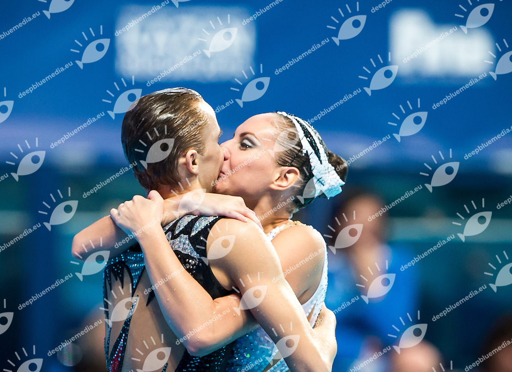 MALTSEV Aleksandr and VALITOVA Darina RUS gold medal<br /> Synchro - Mixed duet free final<br /> Day 07 30/07/2015<br /> XVI FINA World Championships Aquatics Swimming<br /> Kazan Tatarstan RUS July 24 - Aug. 9 2015 <br /> Photo Giorgio Perottino/Deepbluemedia/Insidefoto