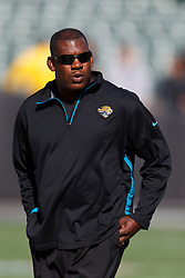 OAKLAND, CA - OCTOBER 21: Defensive coordinator Mel Tucker of the Jacksonville Jaguars before the game against the Oakland Raiders at O.co Coliseum on October 21, 2012 in Oakland, California. The Oakland Raiders defeated the Jacksonville Jaguars 26-23 in overtime. Photo by Jason O. Watson/Getty Images) *** Local Caption *** Mel Tucker