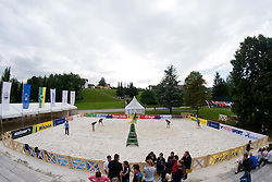 View on court at CEV European Continental Beach Volleyball Cup for Olympic Qualification, on September 3, 2010, in Zrece, Slovenia. (Photo by Matic Klansek Velej / Sportida)