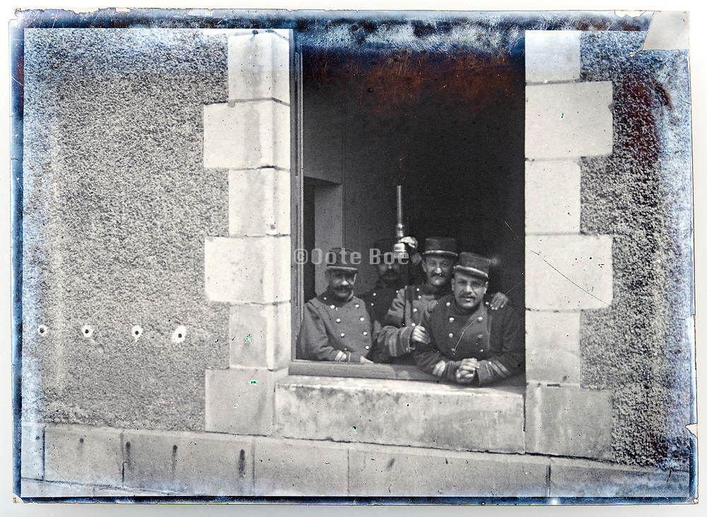 ww1 period soldiers at the barracks France