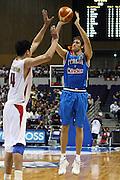 DESCRIZIONE : Sapporo Giappone Japan Men World Championship 2006 Campionati Mondiali China-Italy <br /> GIOCATORE : Angelo Gigli <br /> SQUADRA : Italy Italia <br /> EVENTO : Sapporo Giappone Japan Men World Championship 2006 Campionato Mondiale China-Italy <br /> GARA : China Italy Cina Italia <br /> DATA : 19/08/2006 <br /> CATEGORIA : Tiro <br /> SPORT : Pallacanestro <br /> AUTORE : Agenzia Ciamillo-Castoria/E.Castoria <br /> Galleria : Japan World Championship 2006<br /> Fotonotizia : Sapporo Giappone Japan Men World Championship 2006 Campionati Mondiali China-Italia <br /> Predefinita :