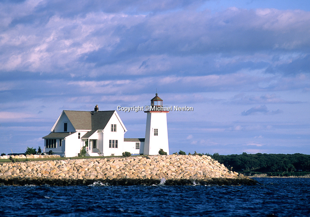 Wings Neck Lighthouse, Buzzards Bay  Pocasset Cape Cod Notecard<br /> <br /> 4.5&quot; x 6.25&quot; Blank Notecard with matching white envelope.<br /> <br /> Single Notecard   $4.50<br /> <br /> Box of 10  $18.00